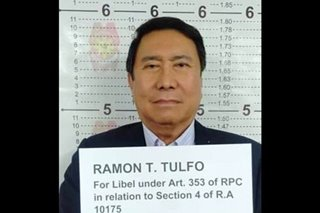 Ramon Tulfo surrenders in Manila over libel charges