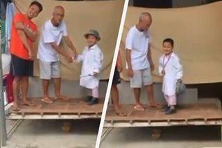 TRENDING: Bata binigyan ng 'DIY' moving-up ceremony sa Pampanga sa gitna ng quarantine