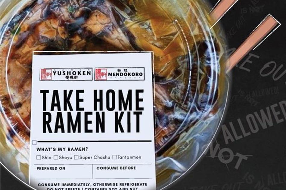 Mendokoro Ramenba is now offering take-home ramen kits