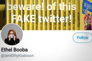Ethel Booba calls Twitter account @IAmEthylGabison 'fake'