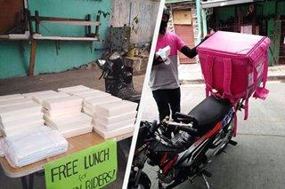 COVID-19 bayanihan: Libreng pagkain hatid sa mga delivery rider sa Makati