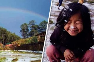 LOOK: Hail falls, rainbow lights up dreary sky in parts of Benguet