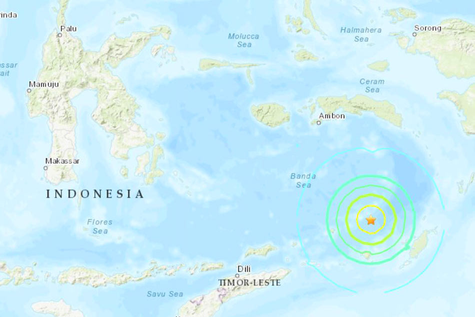 Natural disaster of magnitude 6.9 strikes in sea off Indonesia, no tsunami risk