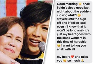 'Lalong nadurog ang puso ko': ABS-CBN shutdown sinks in for Vice Ganda with text message from mom