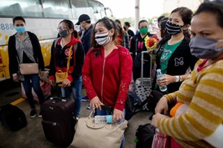 'Finally free': Homebound Filipinos cheer end to quarantine ordeal