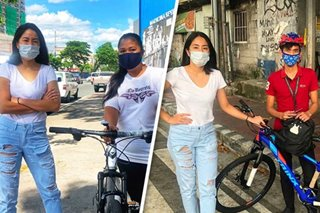 WATCH: Gretchen Ho gives away bikes to workers