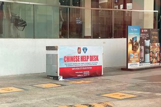 PNP: Viral photos of police's Chinese help desks not taken during pandemic
