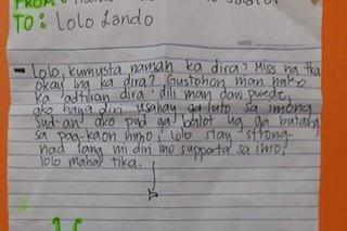 TINGNAN: Apo may Father's Day letter para sa lolong preso