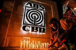 Lighting candles for retrenched ABS-CBN employees