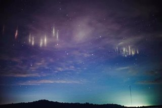 LOOK: Breathtaking 'light pillars' seen in Basilan