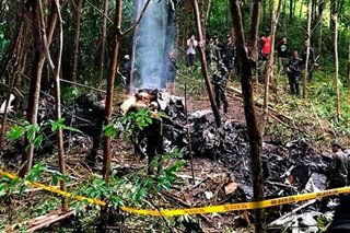 Military chopper crashes in Basilan