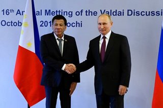 Duterte invites Putin again to visit PH to celebrate Manila-Moscow relations