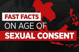 Age of sexual consent in PH compared to rest of Southeast Asia
