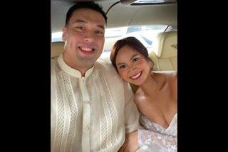 LOOK: Ginebra's Greg Slaughter marries girlfriend Schinina Juban