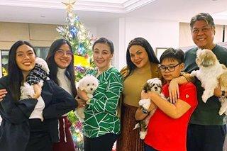 LOOK: KC Concepcion joins mom Sharon, Pangilinans to celebrate Christmas