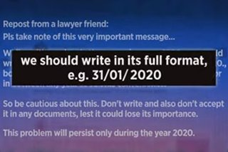 Legal experts remind public to write '2020' in full on documents to avoid tampering