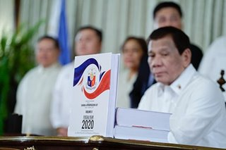 Duterte safeguarded 2020 budget with 'conditional' items, says official