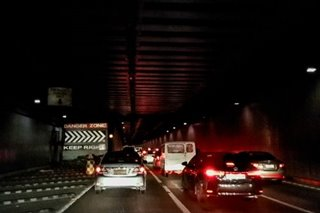 Thieves keep stealing lights from EDSA-Ayala Underpass