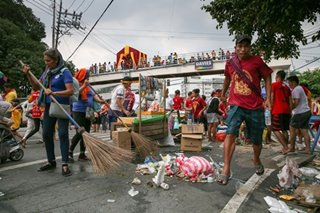 Manila hauls 330 tons of trash after Traslacion 2020