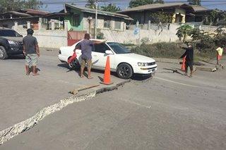 LOOK: 3-km crack opens in Batangas as Taal rumbles