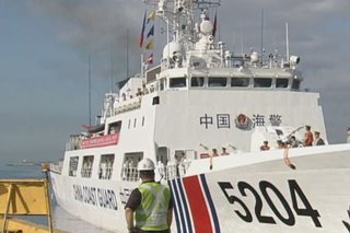 China's Coast Guard visits PH for week-long visit