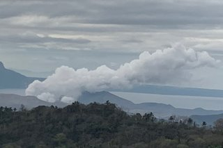 Darker steam from Taal volcano no cause for worry, for now: Phivolcs
