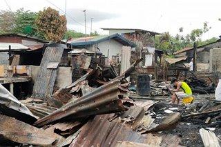 Nasa P300,000 halaga ng ari-arian napinsala sa Davao City fire