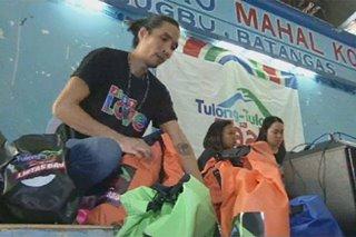 'Ligtas bags,' food packs hatid sa Taal evacuees sa Nasugbu