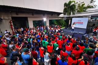 ABS-CBN employees pray for franchise renewal ahead of Senate probe