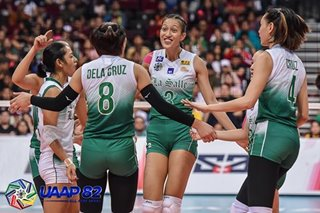 UAAP volleyball: La Salle seniors help rookie Gagate overcome 'slight' nerves in debut