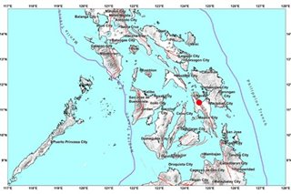 M4.4 quake strikes off Leyte