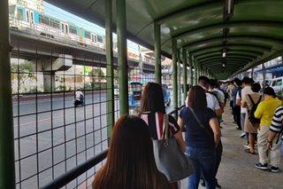 LOOK: Social distancing in the MRT