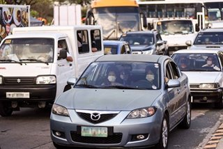 Long lines at checkpoints as motorists exit Metro Manila