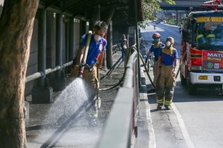 Disinfection efforts in Mandaluyong City