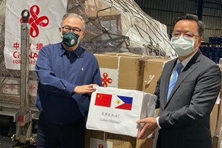 Thousands of test kits, masks from China arrive in PH to aid COVID-19 fight
