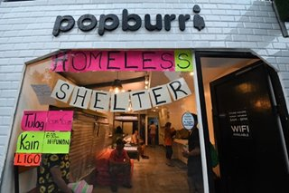 PHOTO ESSAY: QC popsicle shop turns into homeless shelter amid Luzon Lockdown