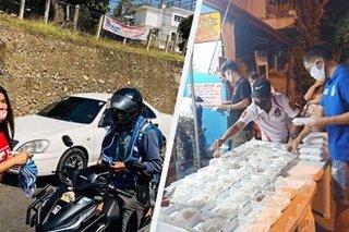 Frontliners na bantay-checkpoint sa Maynila, Cagayan hinatiran ng pagkain, masks