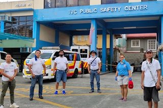 Entertainment amid relief operations in Industrial Valley, Marikina