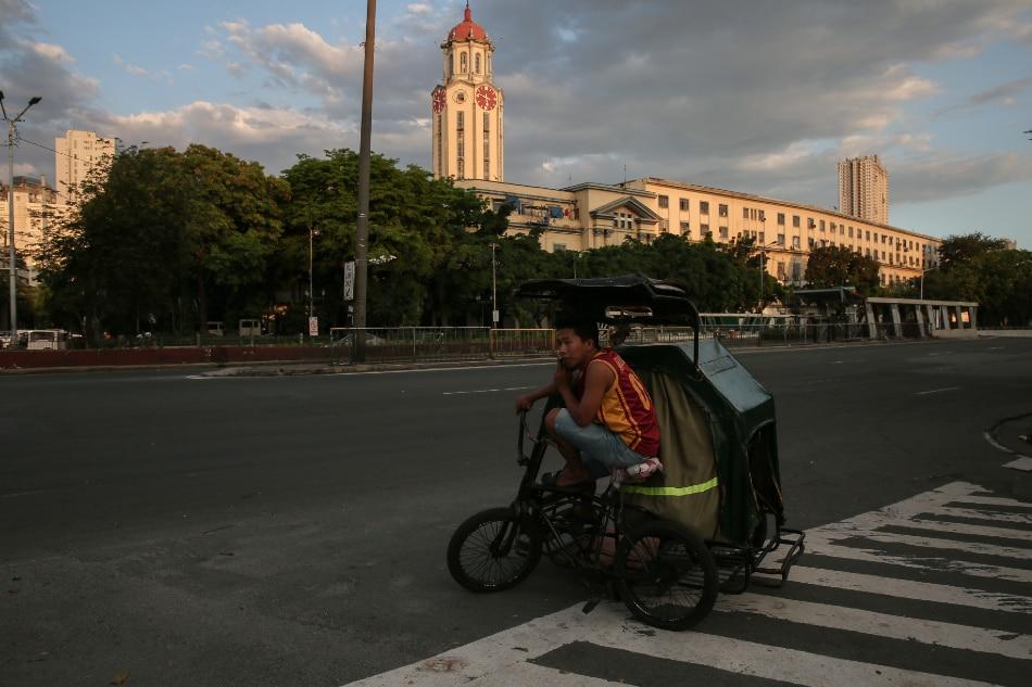 Manila City Hall on March 23, 2020. Fernando G. Sepe Jr., ABS-CBN News/File