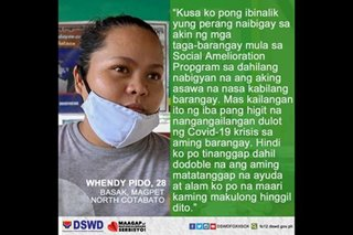 DSWD lauds woman in North Cotabato who waived cash aid to help neighbors