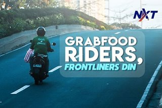 Food delivery riders, frontliners ngayong may lockdown