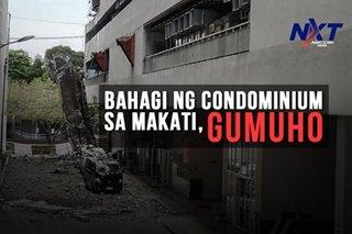 Bahagi ng condominium sa Makati, gumuho