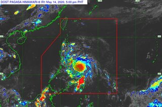 Typhoon Ambo maintains strength as it moves west