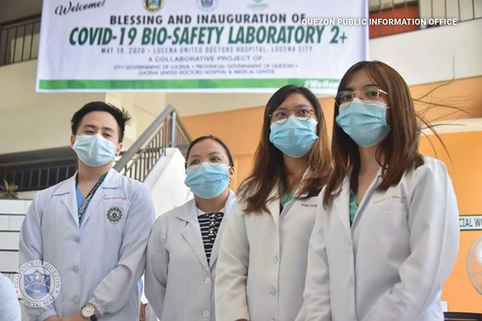 Unang COVID-19 testing lab itinayo sa pribadong ospital sa Quezon 1