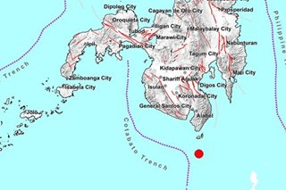 Magnitude 4.8 earthquake jolts Davao Occidental