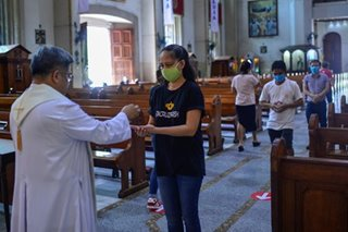 Communion in the middle of coronavirus quarantine