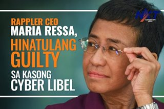 Rappler CEO Maria Ressa, hinatulang guilty sa kasong cyber libel