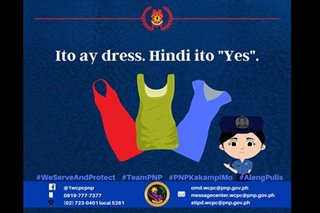 'Ang dress ay 'di yes': PNP women's desk tumindig laban sa 'victim blaming'