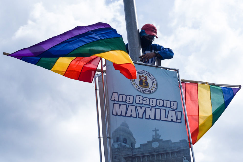 Manila puts up rainbow flags on Pride Month