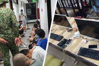 Umano'y ilegal na POGO, sinalakay sa Makati; nasa 50 banyaga tiklo